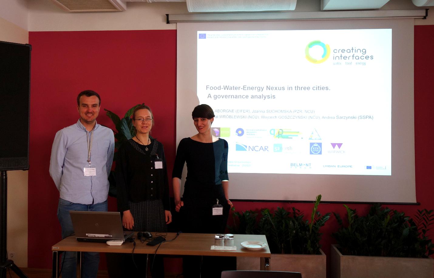 Michal Wroblenski (NCU Torun), Pia Laborgne (EIFER) and Joanna Suchomska (PZR)